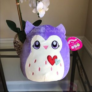 "✨ NWT Squishmallow 12"" Lavender Owl Harriet"